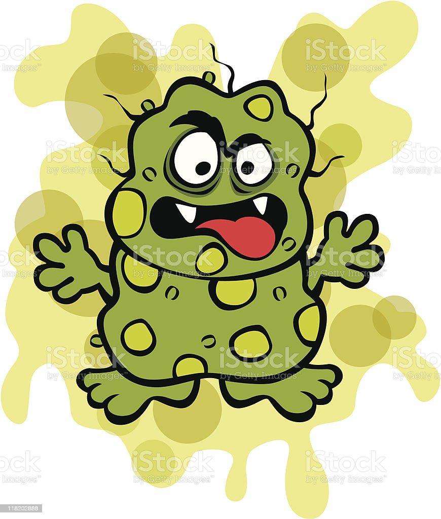 Nasty Germ Microbe royalty-free stock vector art