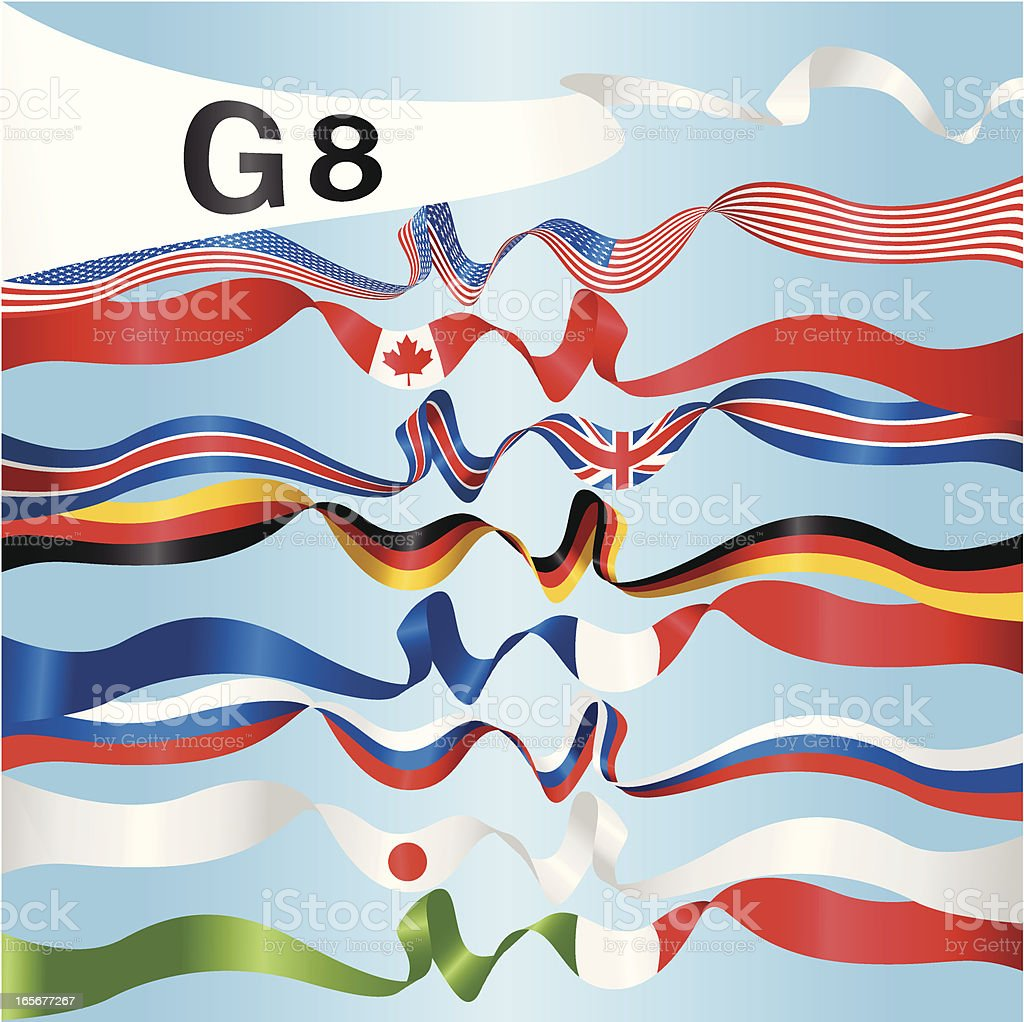 G8 National Banners royalty-free stock vector art