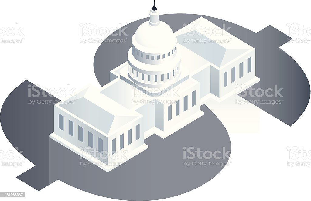 National Debt Illustration vector art illustration