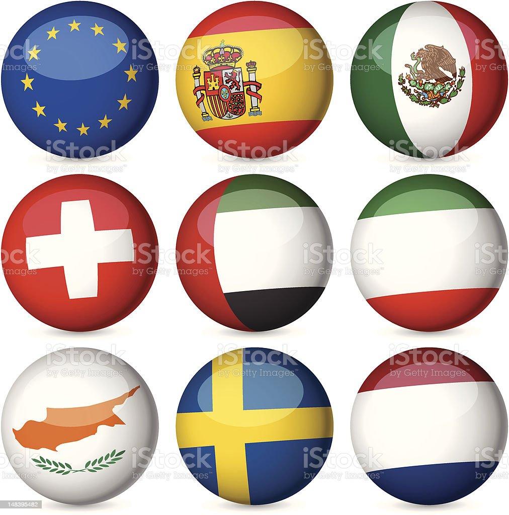 national flag ball set royalty-free stock vector art