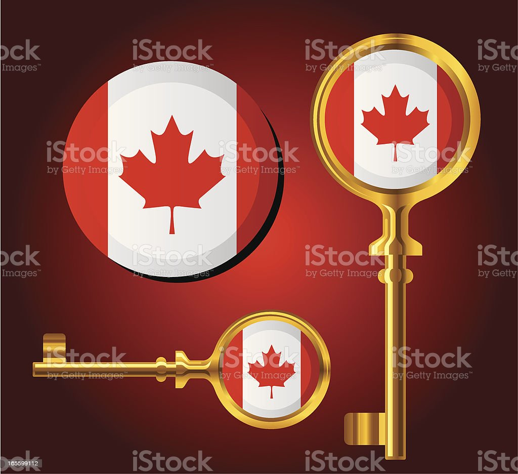 National Flag Key icons — Canada royalty-free stock vector art