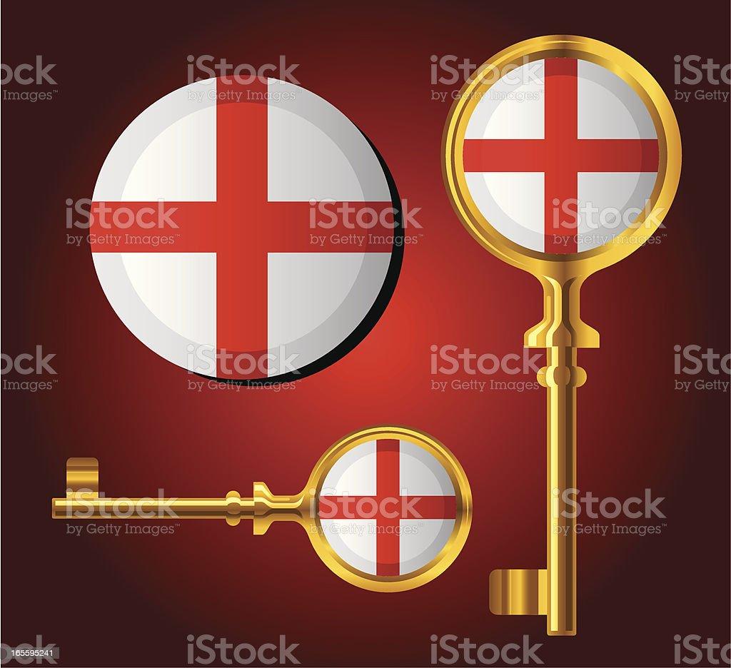 National Flag Key icons — England royalty-free stock vector art