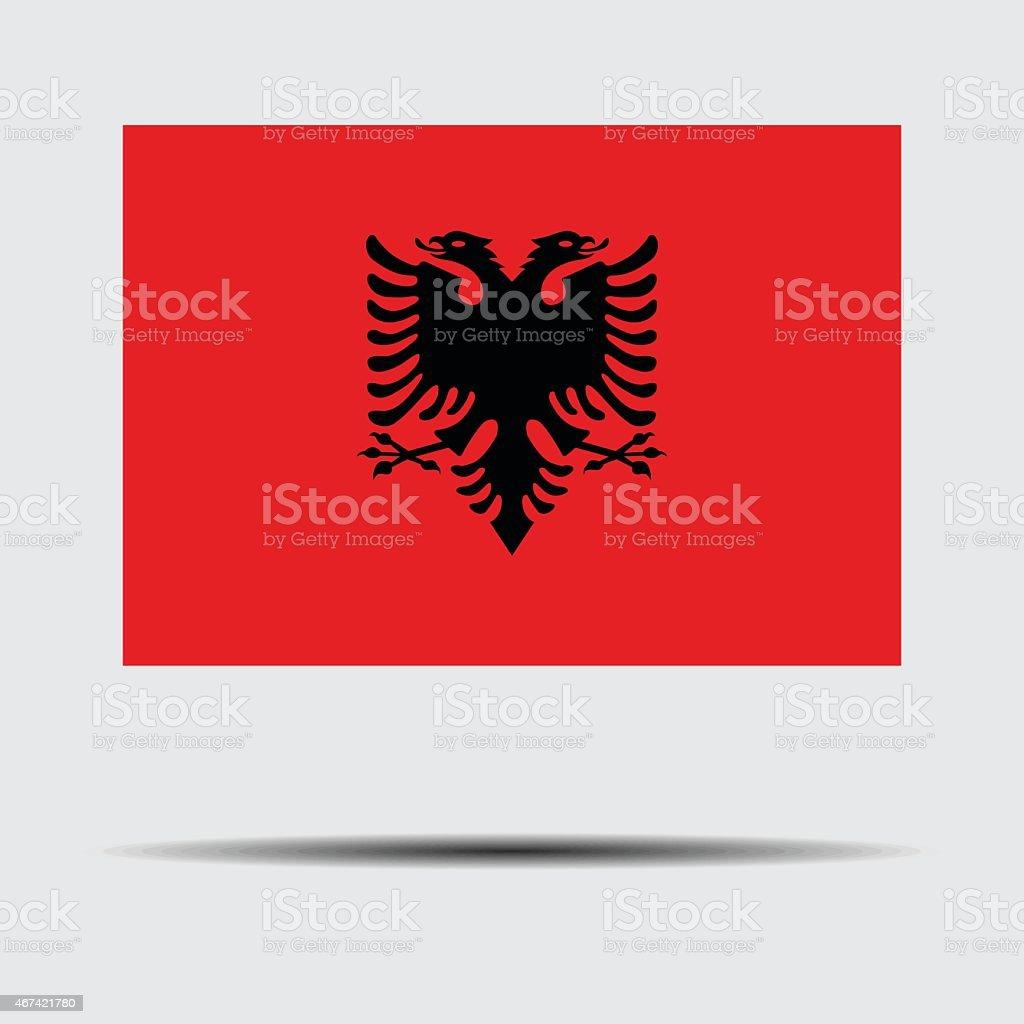 National flag of Albania vector art illustration