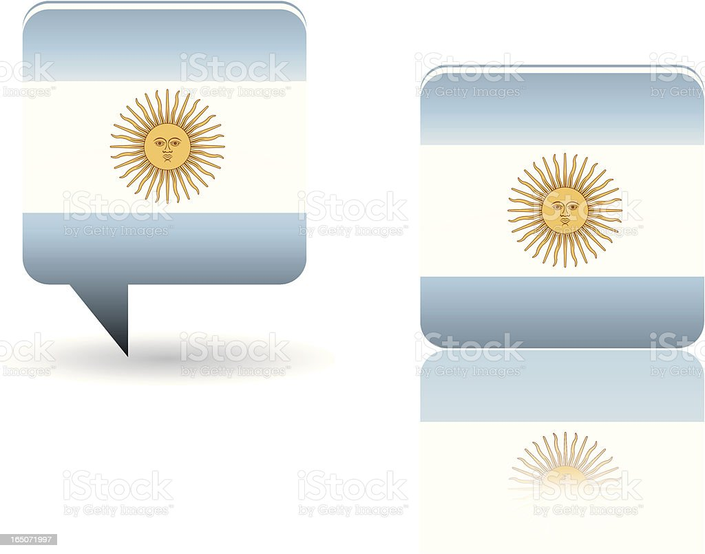 National Flag of Argentina royalty-free stock vector art