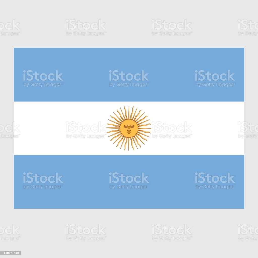National flag of Argentina vector art illustration