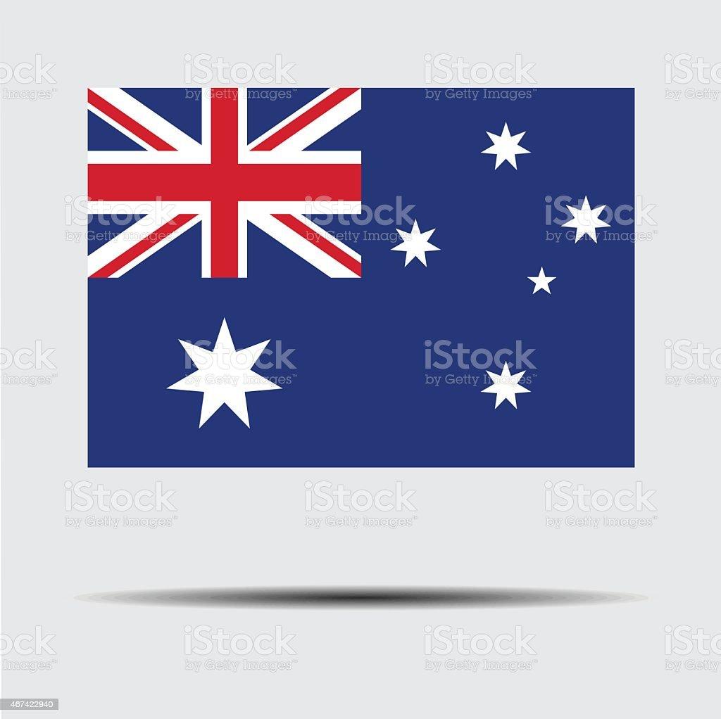 National flag of Australia vector art illustration