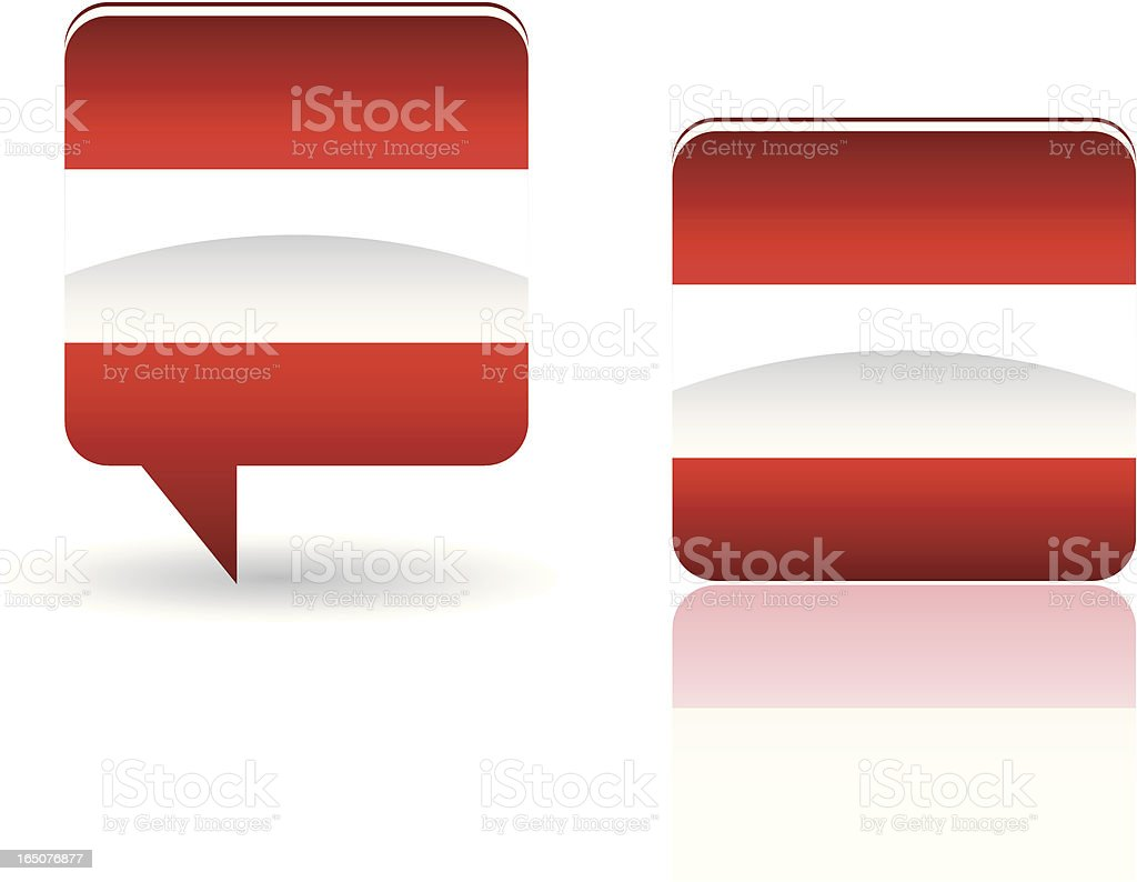 National Flag of Austria royalty-free stock vector art