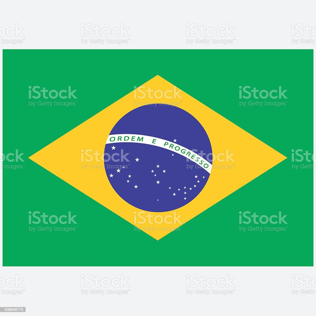 National flag of Brazil vector art illustration