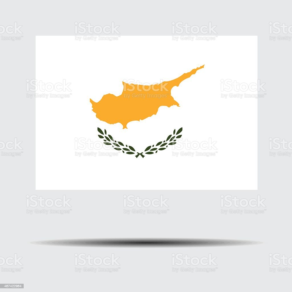 National flag of Cyprus vector art illustration