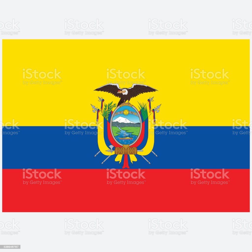 National flag of Ecuador vector art illustration