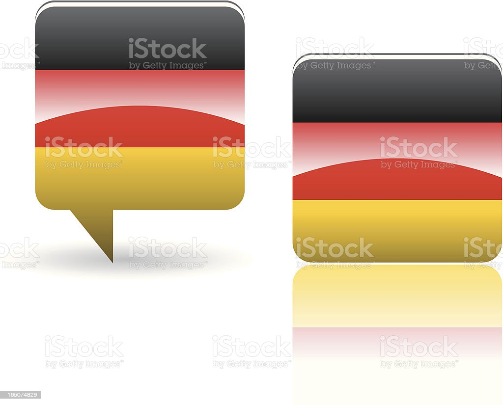 National Flag of Germany royalty-free stock vector art