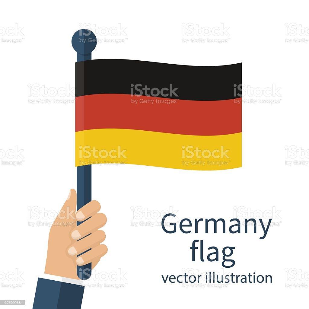 National flag of Germany vector art illustration