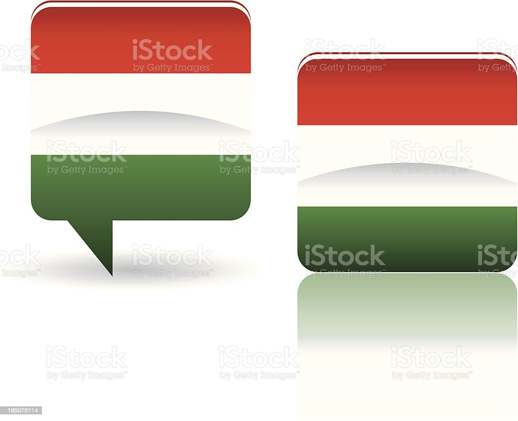 National Flag of Hungary royalty-free stock vector art