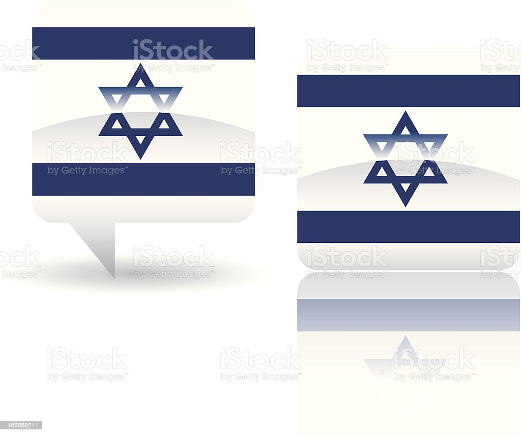National Flag of Israel royalty-free stock vector art