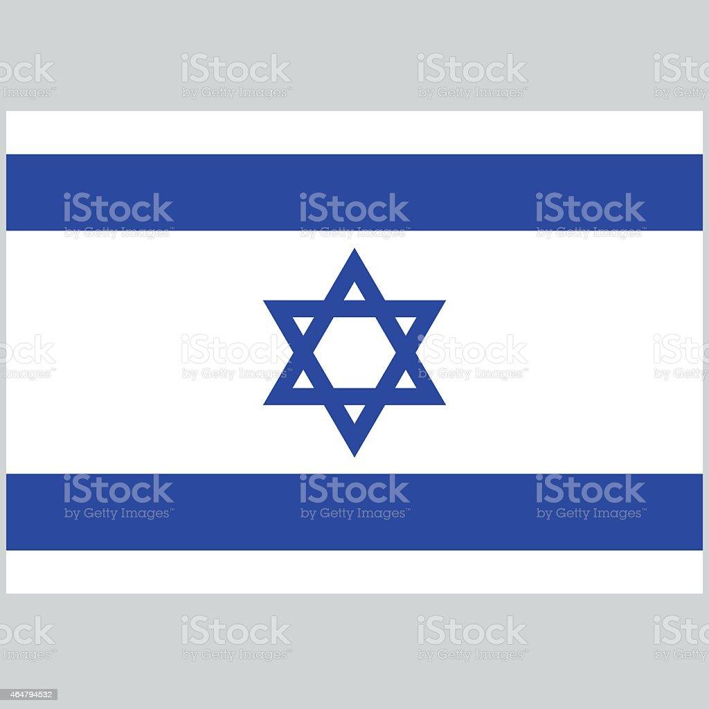 National flag of Israel vector art illustration