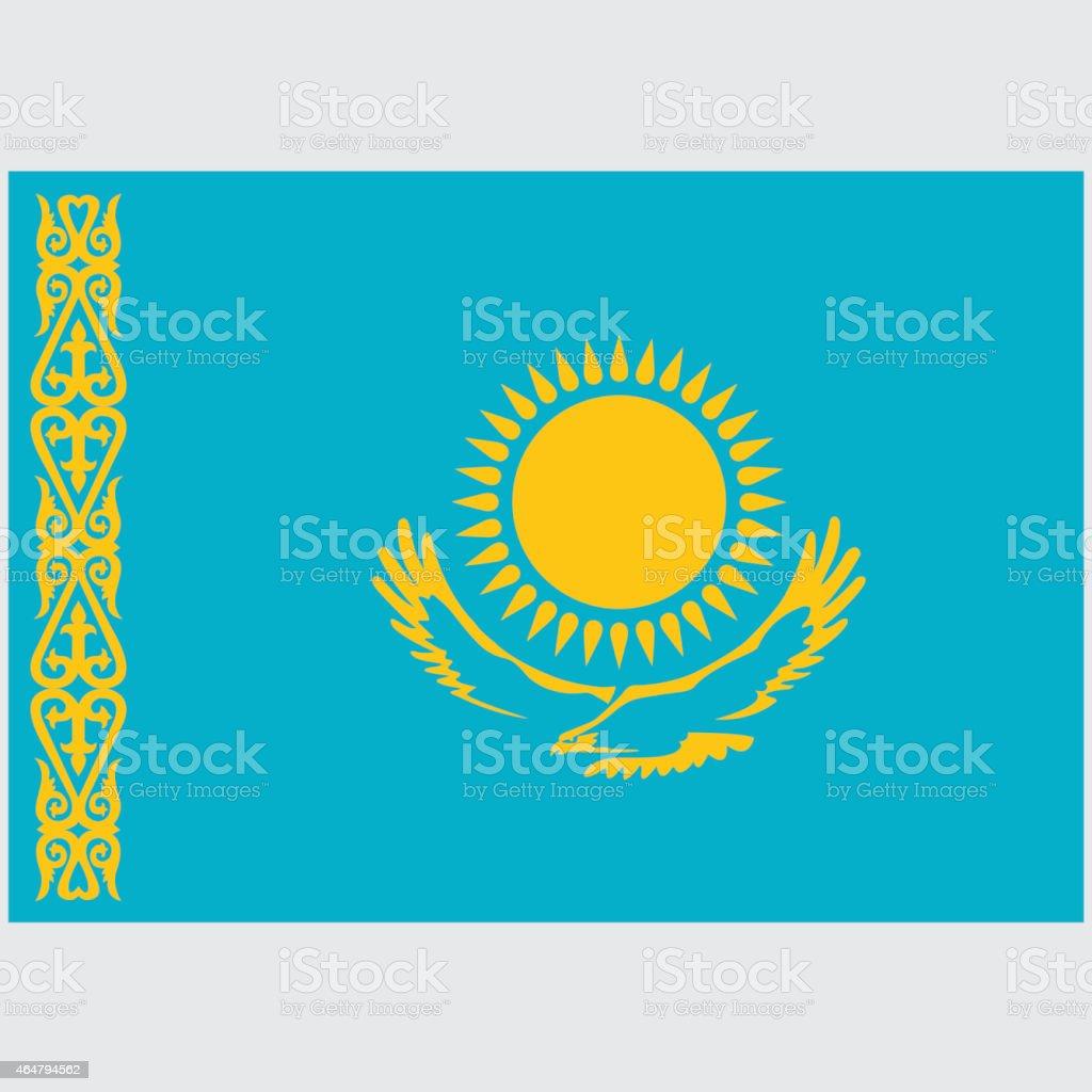National flag of Kazakhstan stock photo