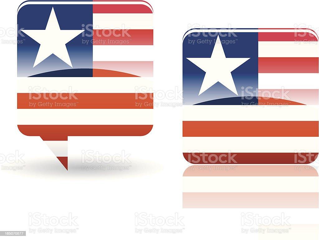 National Flag of Liberia royalty-free stock vector art
