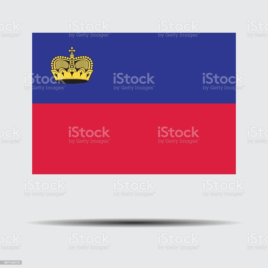 National flag of Liechtenstein stock photo