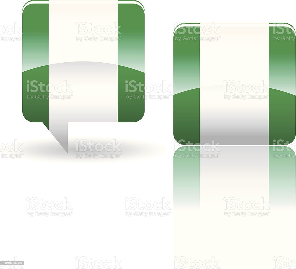 National Flag of Nigeria royalty-free stock vector art