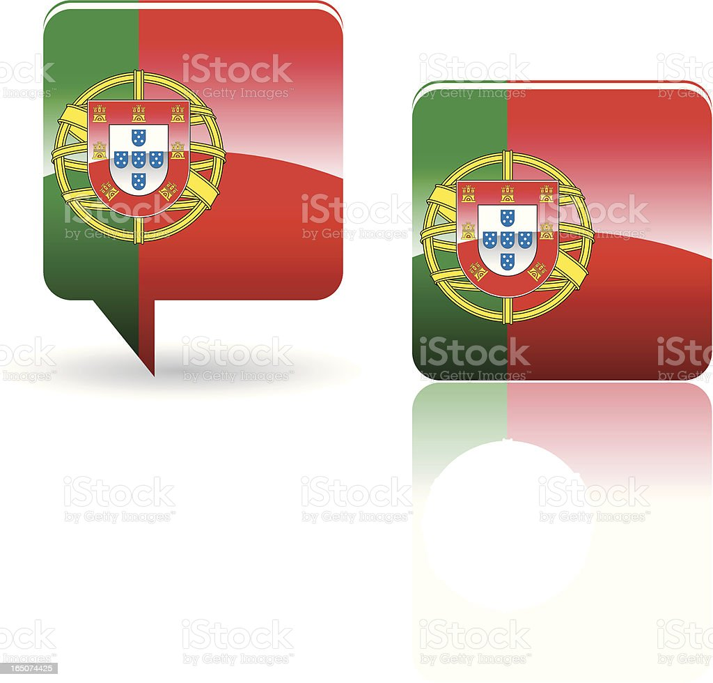 National Flag of Portugal royalty-free stock vector art