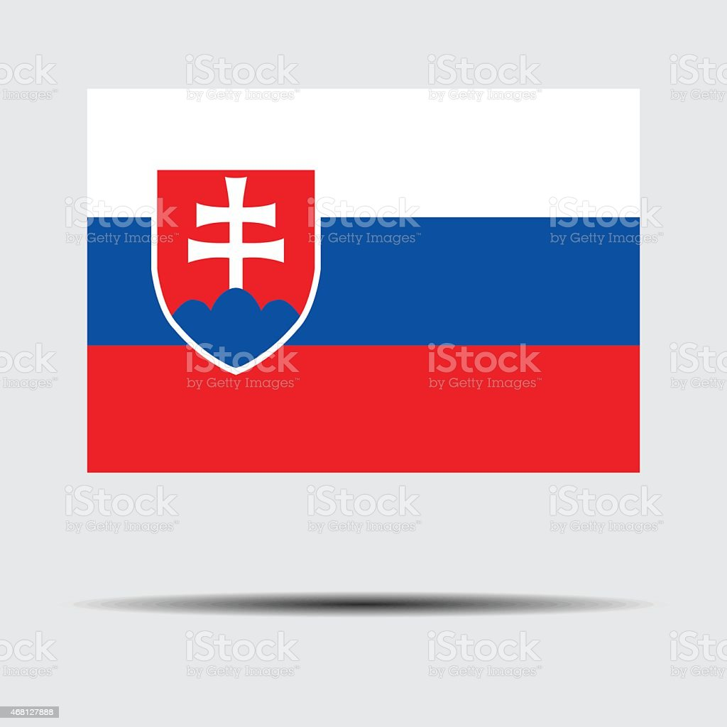 National flag of Slovakia vector art illustration