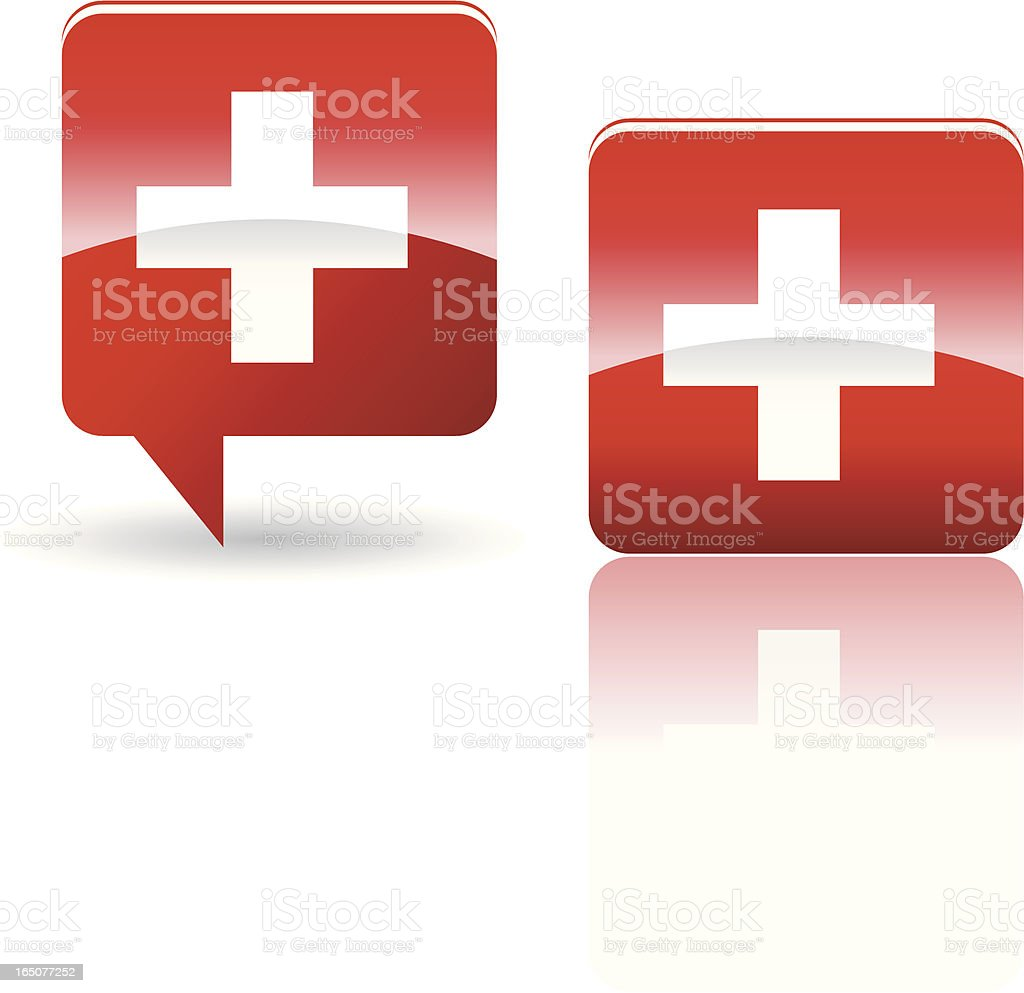 National Flag of Switzerland royalty-free stock vector art