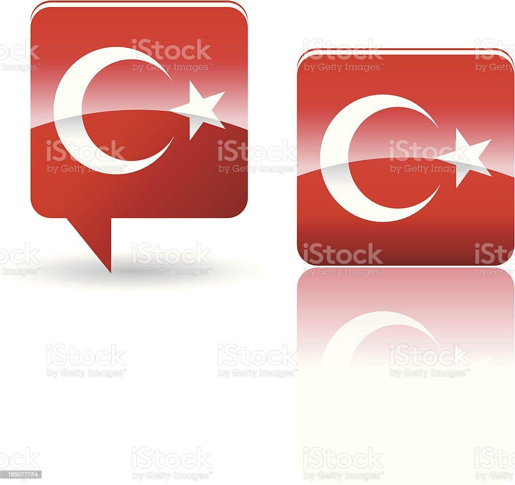 National Flag of Turkey royalty-free stock vector art
