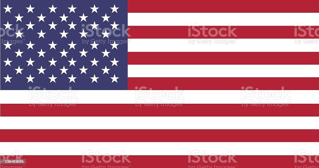 National flag of USA vector art illustration