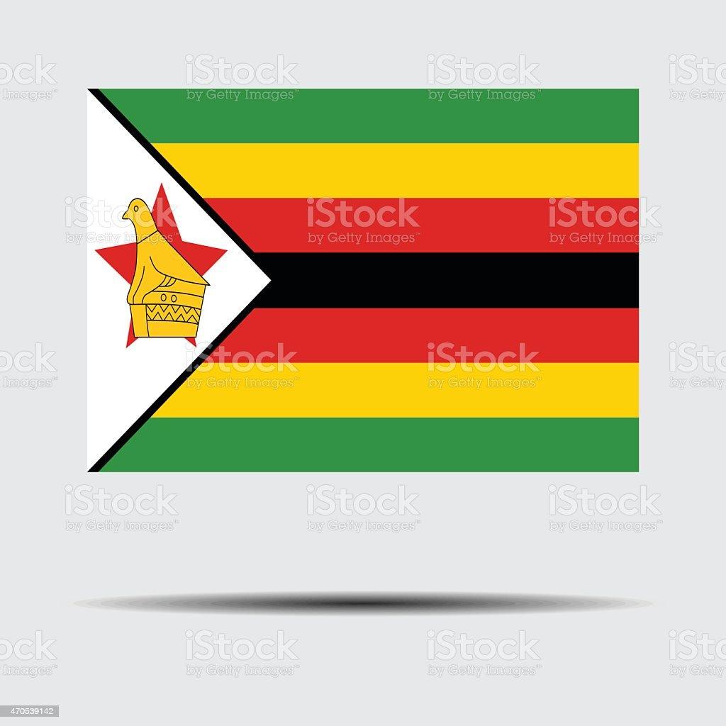 National flag of Zimbabwe vector art illustration