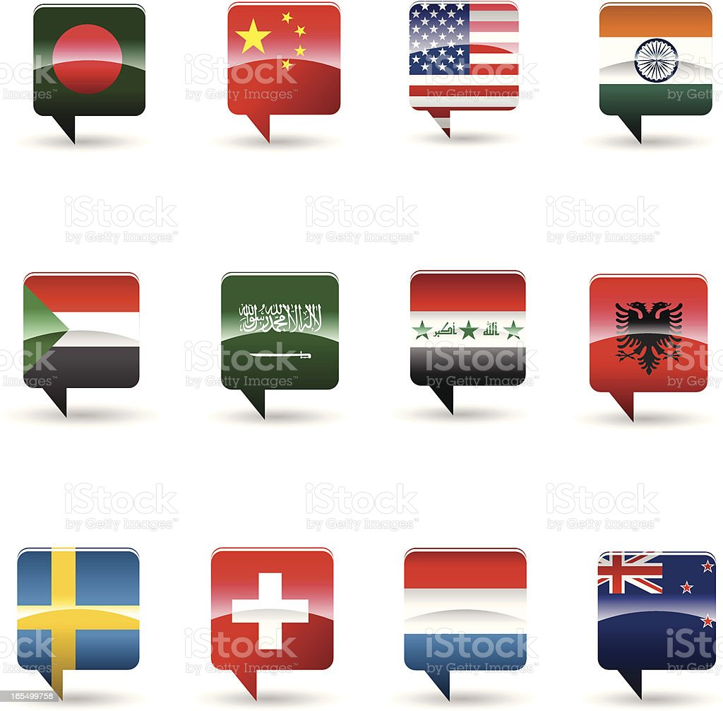 National flag set royalty-free stock vector art