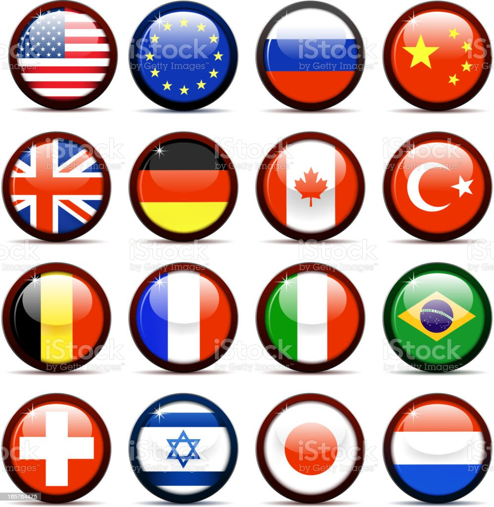 national flags royalty-free stock vector art