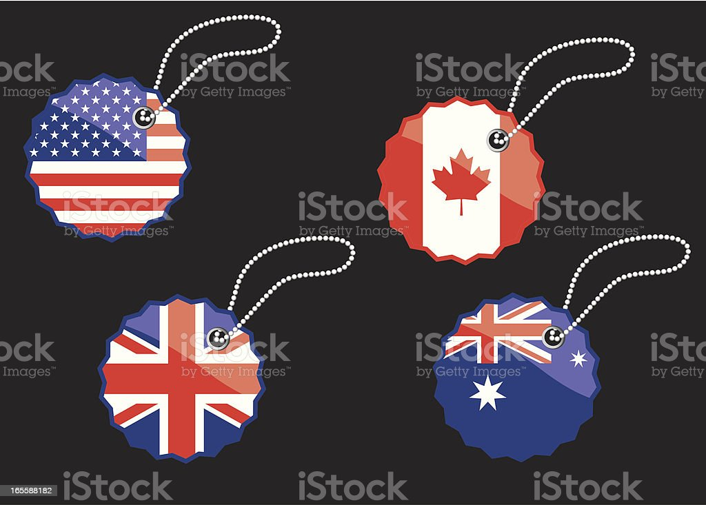 National Flags | web badge series royalty-free stock vector art
