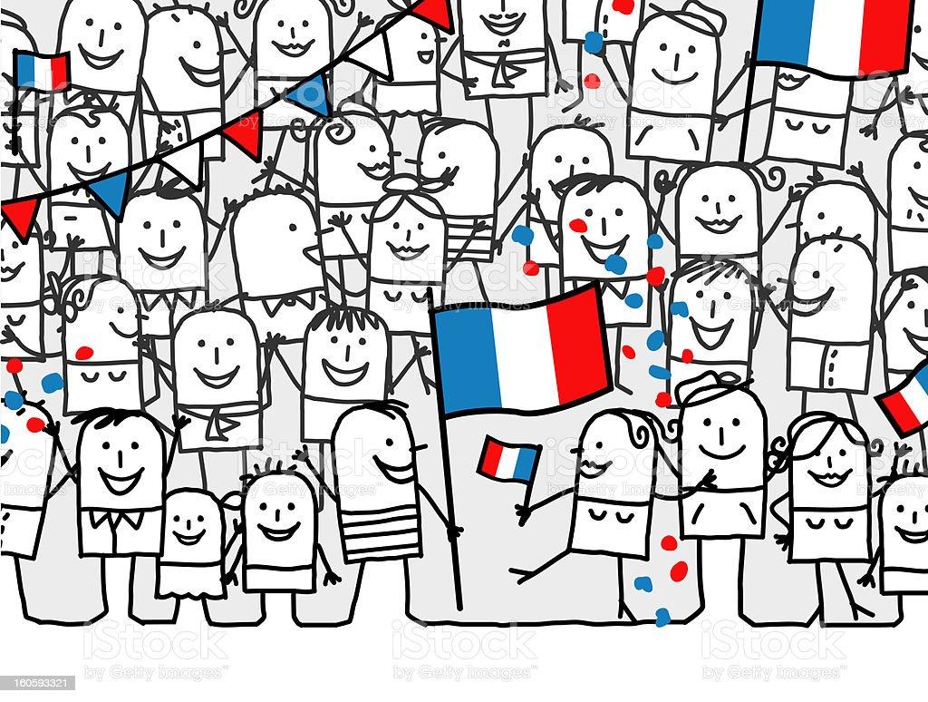 national holiday - France vector art illustration
