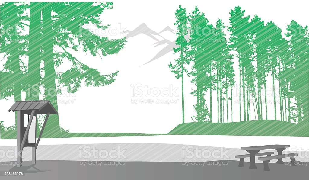 National Park Background vector art illustration