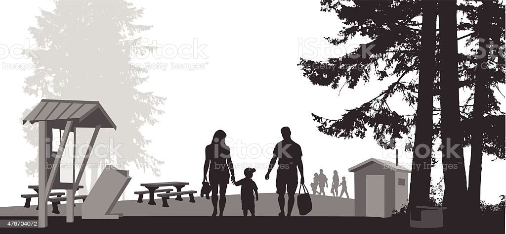 National Park vector art illustration