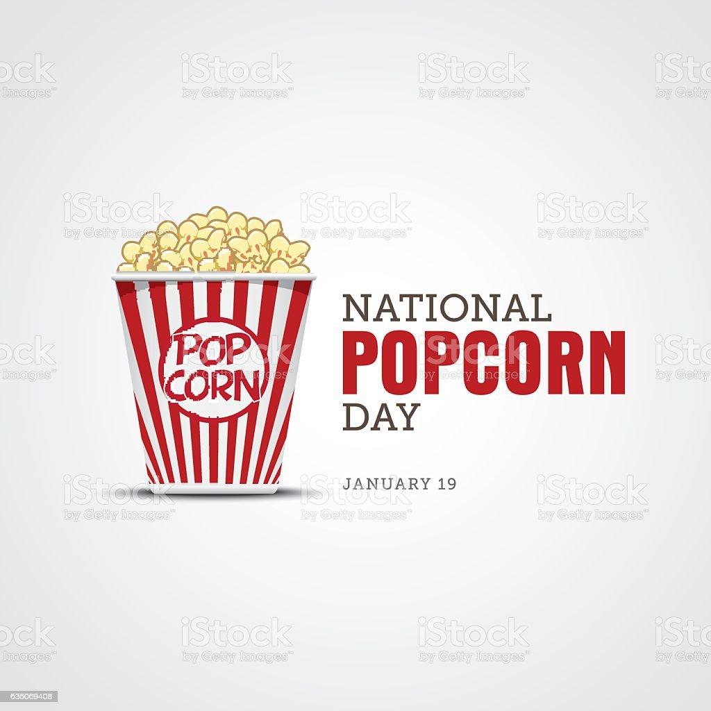 National Popcorn Day vector art illustration