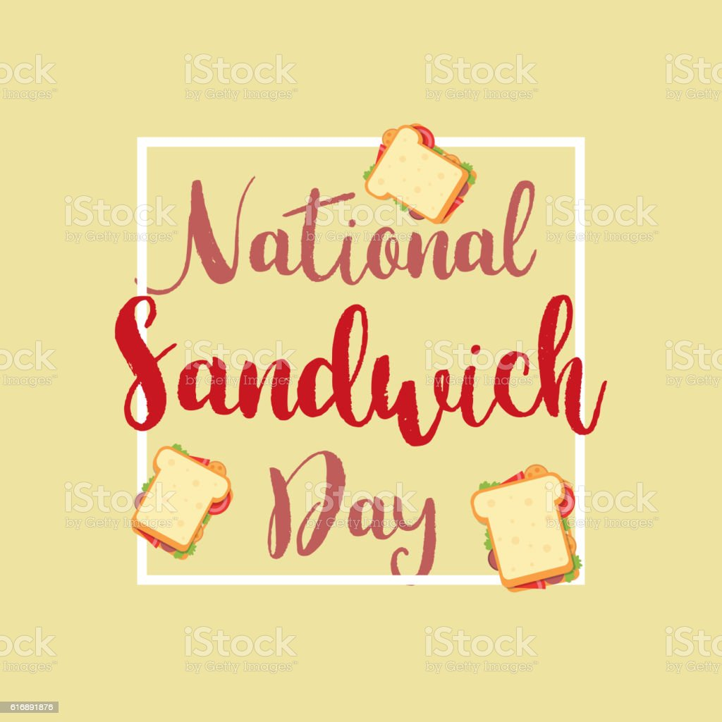 National Sandwich Day vector art illustration