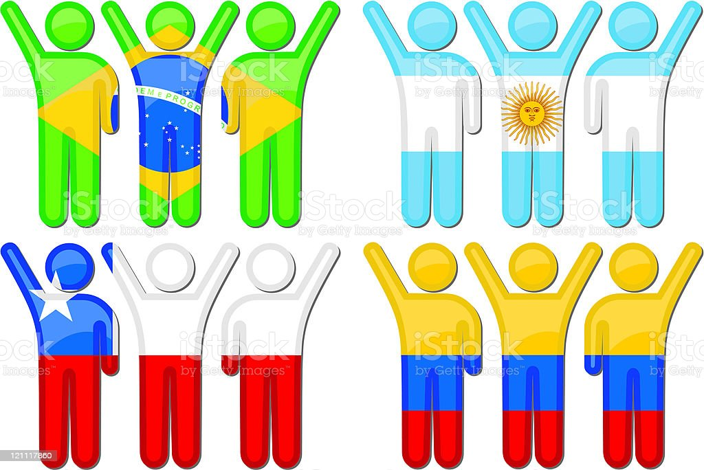 National Sports Team Icons royalty-free stock vector art