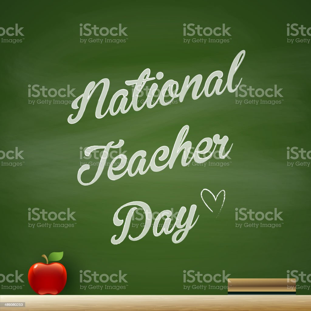 National Teacher Day vector art illustration