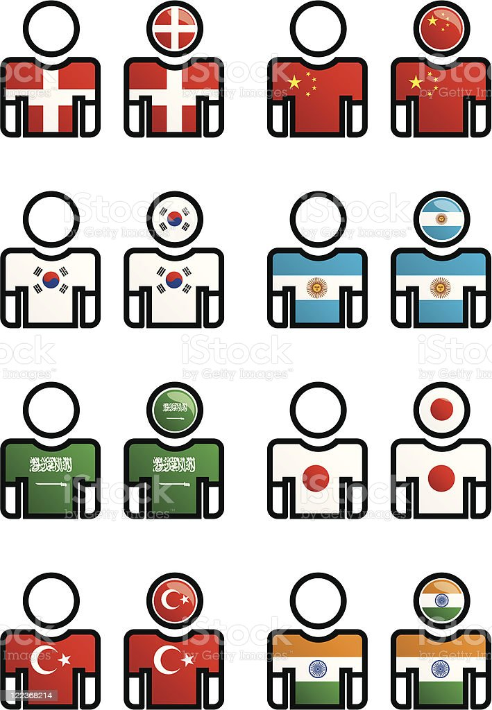 nationality, language - button vector art illustration