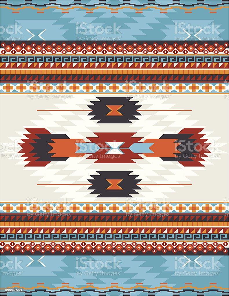 Native American, Aztec, Mayan Pattern, RUG vector art illustration