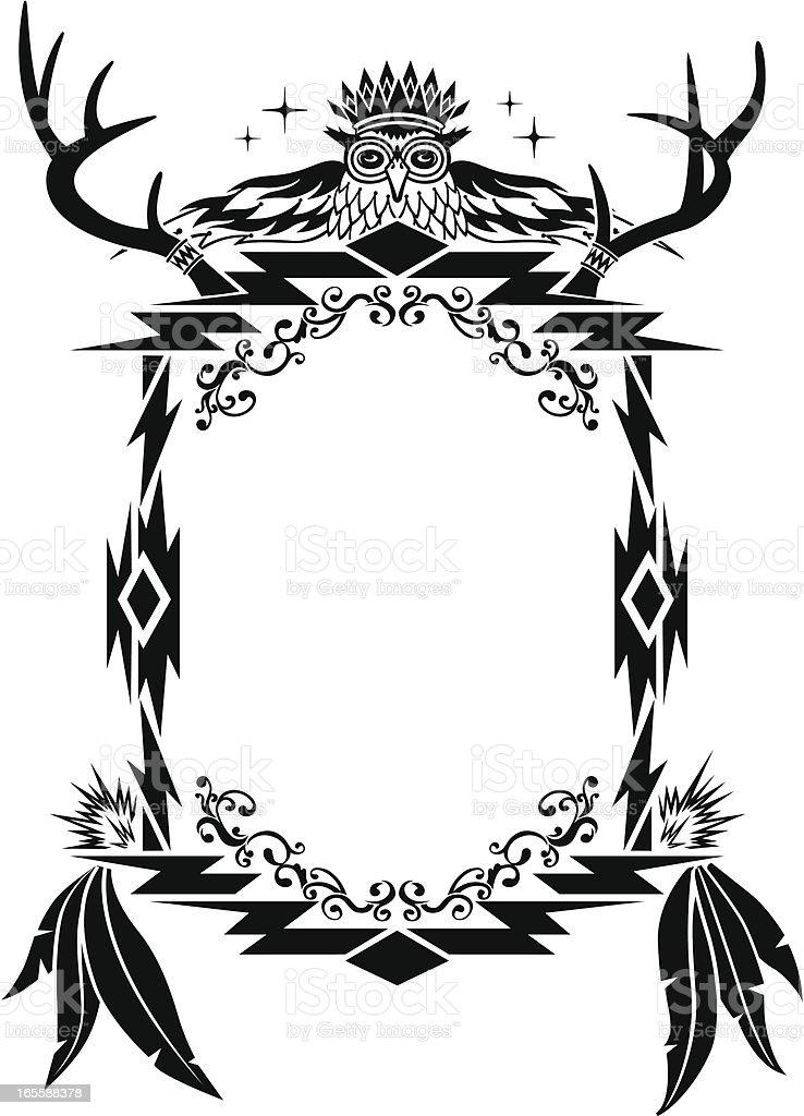 Native American, Aztec, Mian Pattern, Frame vector art illustration