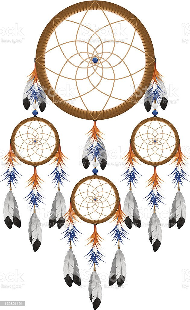 Native American Dream Catcher royalty-free stock vector art