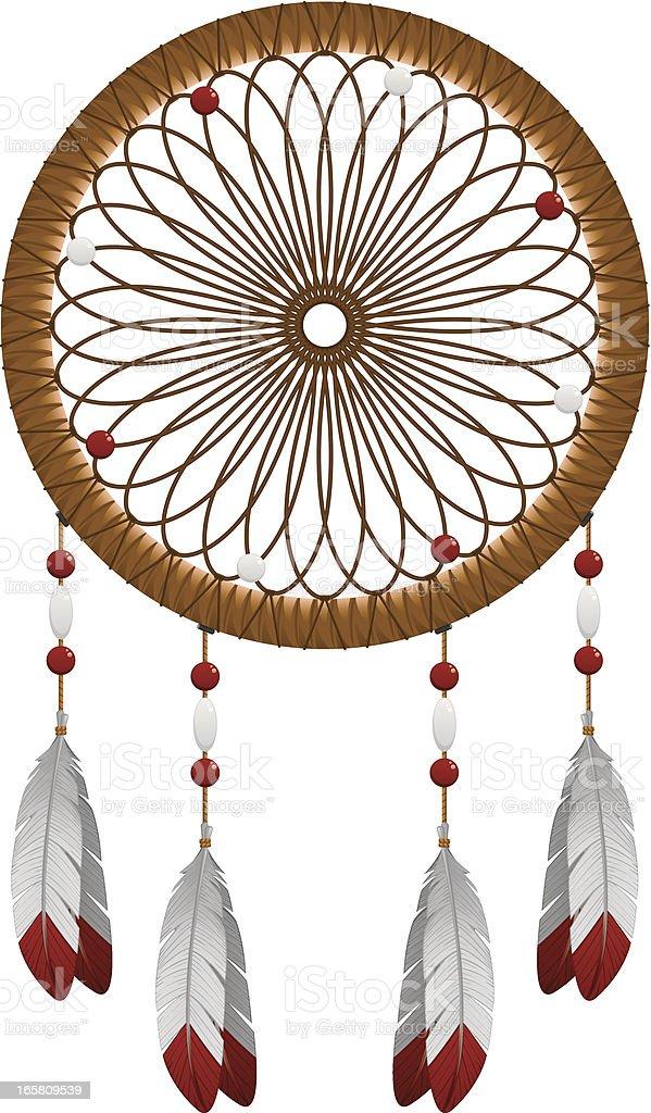 Native American Dream Catcher vector art illustration