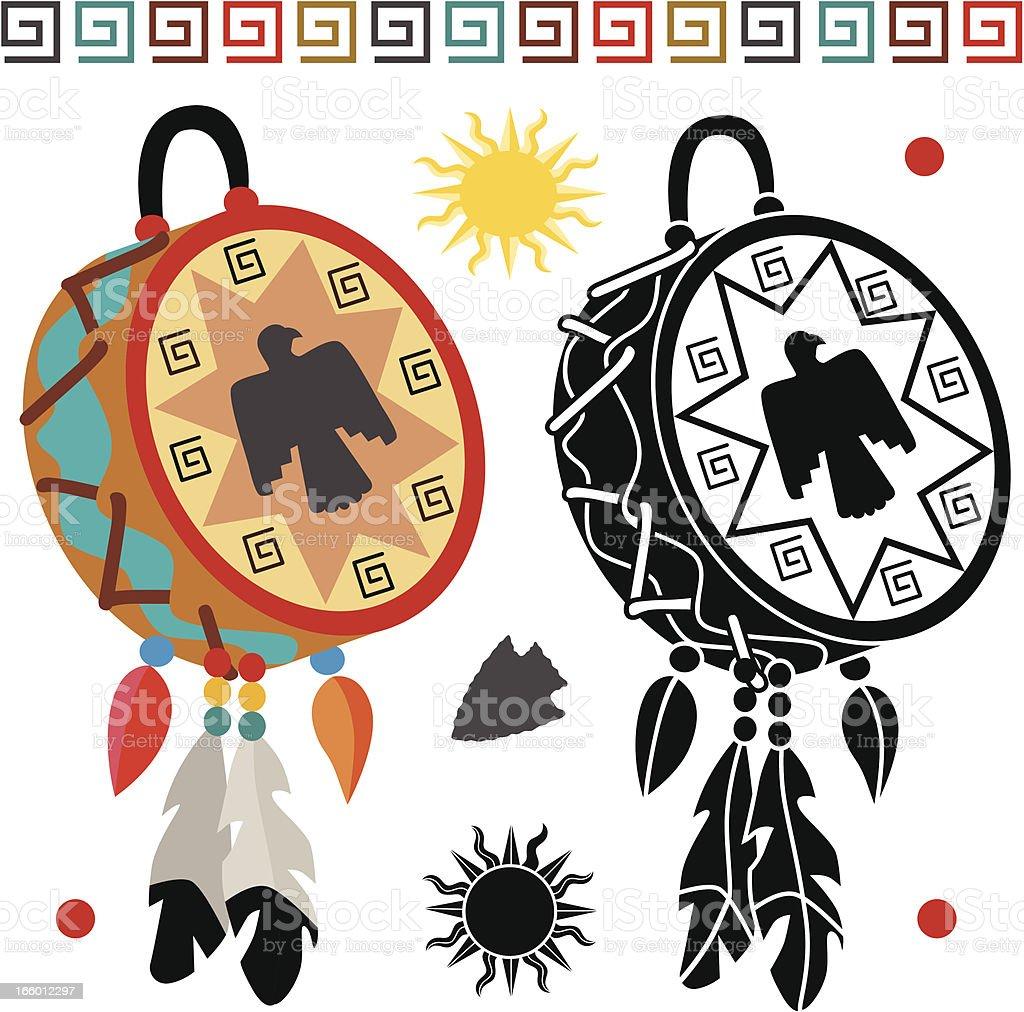 Native American drum royalty-free stock vector art