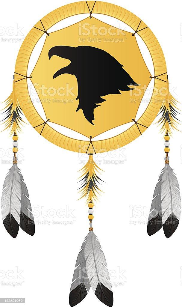 Native American Eagle Dream Catcher vector art illustration