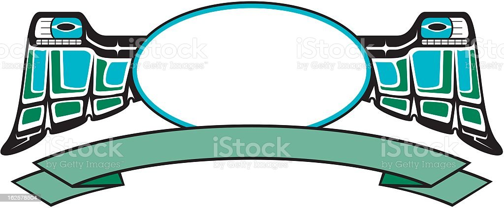 Native American Frame and Banner royalty-free stock vector art