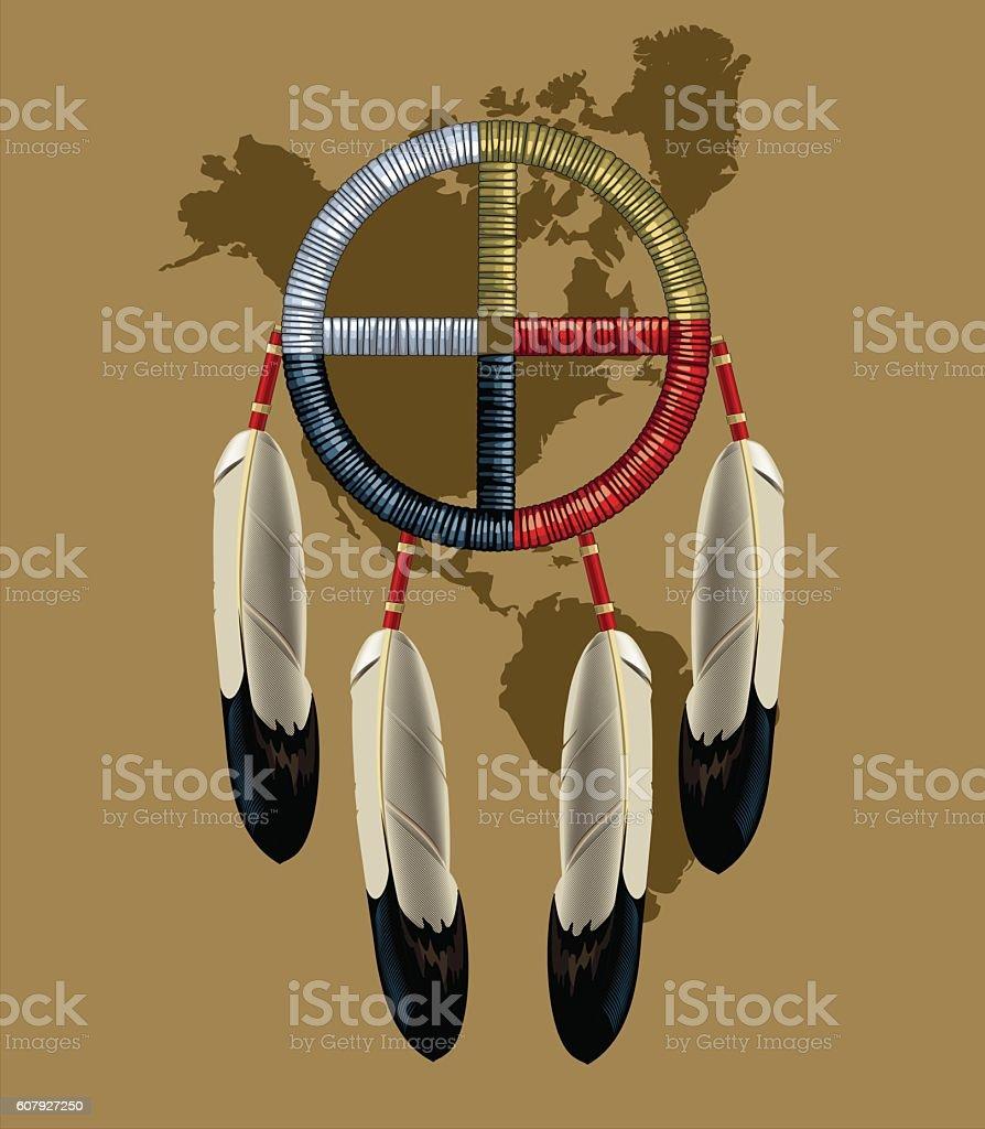Native American Indian Dreamcatcher royalty-free stock vector art