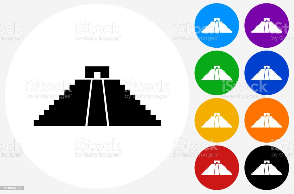 native american pyramid icon on flat color circle buttons stock ... - Native American Pictures Color