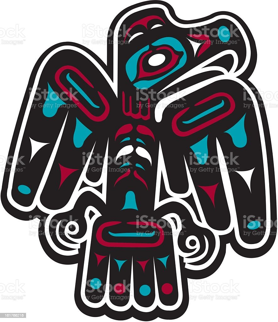 Native American Styled Eagle royalty-free stock vector art